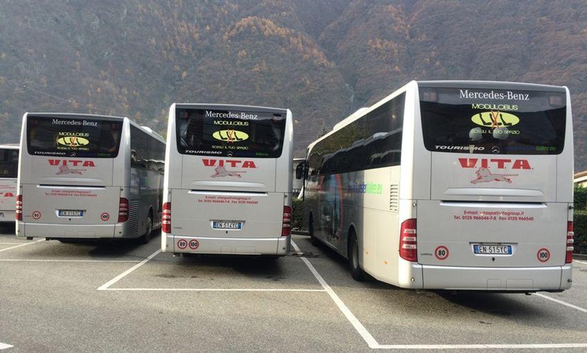 Alcuni autobus modulabili